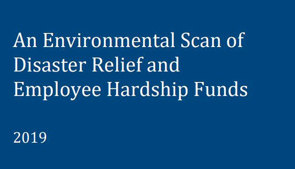 Environmental-Scan-Of-Disasters-and-Employee-Hardship-Relief-Funds-White-Paper-2019-cover